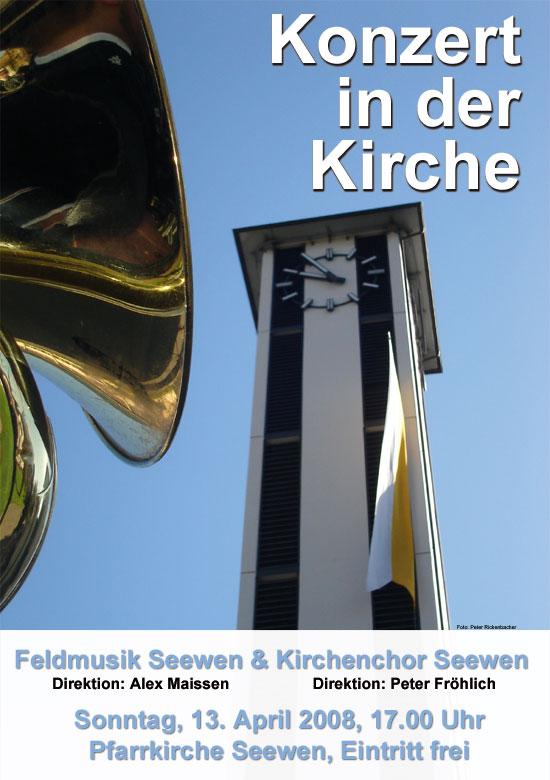 Programm Kirchenkonzert 2008