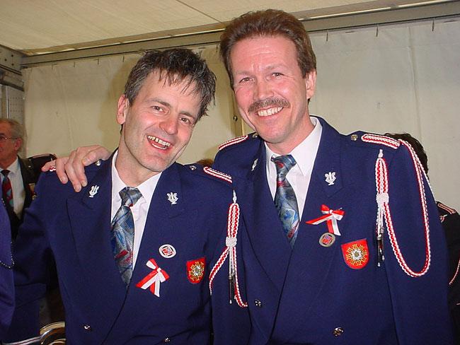 Die Veteranen Valentin Arnold und Kurt Betschart